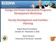 Kevin Tomsovic, CTI Professor and Head, Department of ... - ecedha