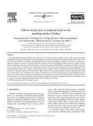 Effects of pile size of artificial reefs on the ... - Academia Sinica