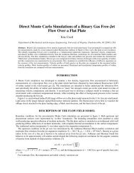 Direct Monte Carlo Simulations of a Binary Gas Free-Jet Flow Over a ...