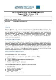 Leisure Tourism Intern – 12 week internship August 2012 – October ...