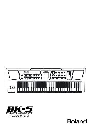 English version - Roland Keyboard Club