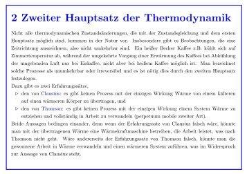 2 Zweiter Hauptsatz Der Thermodynamikquality85