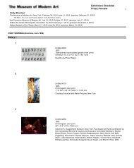 Exhibition Checklist Press Preview
