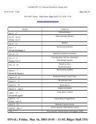 FINAL: Friday, May 16, 2003 (9:45 – 11:45, Bilger Hall 335)