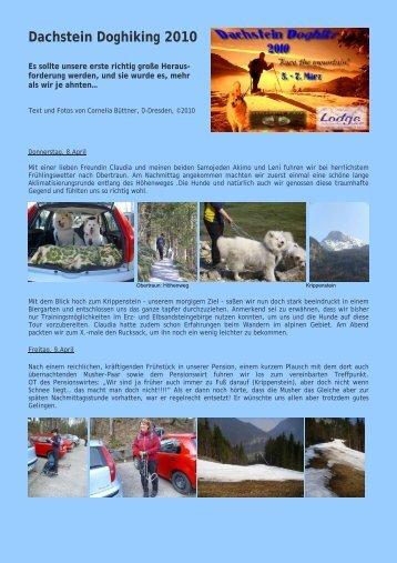 Bericht von Conny Büttner über ihre Teilnahme am ... - IG Samojede