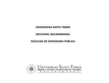 universidad santo tomás seccional bucaramanga facultad de ...