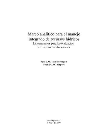 MARCO ANALITICO PARA EL MANEJO INTEGRAD - BVSDE
