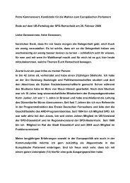 Petra Kammerevert, Kandidatin für die Wahlen zum Europäischen ...