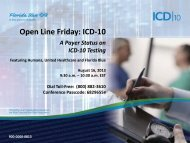 Open Line Friday: ICD-10 - Florida Blue