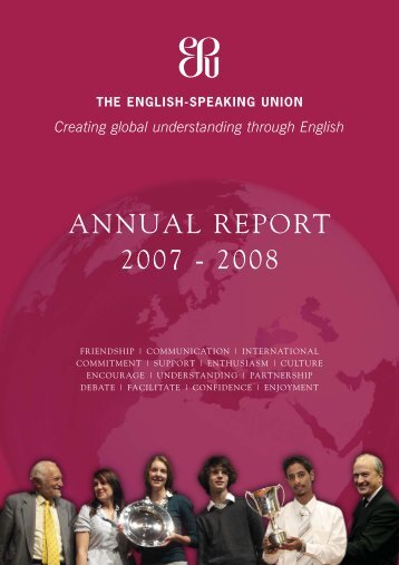 ANNUAL REPORT 2007 - 2008 - The English-Speaking Union