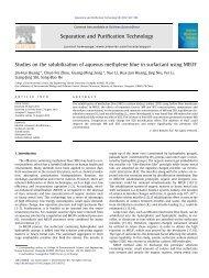 Studies on the solubilization of aqueous methylene blue in ...