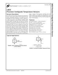 LM35 Precision Centigrade Temperature Sensors - 320Volt