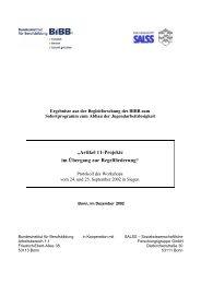 Artikel 11 - Projekte im Übergang zur Regelförderung - BiBB