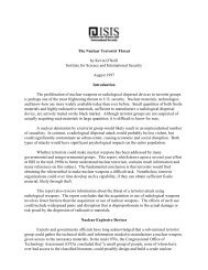 The Nuclear Terrorist Threat - Institute for Science and International ...