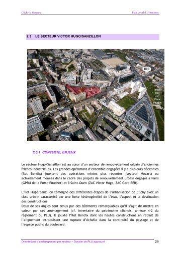 Le secteur Victor Hugo / Sanzillon - Ville de Clichy