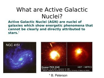 What are Active Galactic Nuclei?