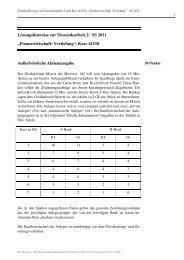 """Lösungshinweise zur Einsendearbeit 2: SS 2011 """"Finanzwirtschaft ..."""