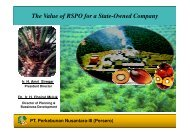 The Value of RSPO for a State-Owned Company PT ... - RT9 2011