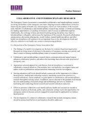 collaborative and interdisciplinary research - Emergency Nurses ...