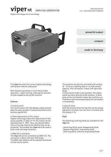 Data sheet Viper nt.pdf - LOOK Solutions