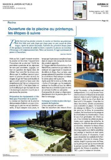 Maison & Jardin Actuels - Piscinelle
