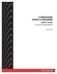 COMSPHERE 3800Plus Modems User's Guide - Zhone Technologies