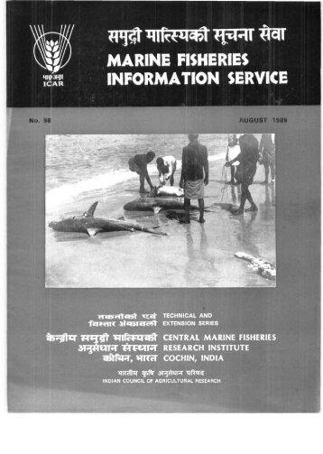 MARINE FISHERIES mm INFORMATION SERVICE - Eprints@CMFRI