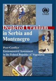 Depleted Uranium in Serbia and Montenegro - UNEP