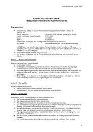 PV Huishoudelijk Reglement - Kempenhaeghe