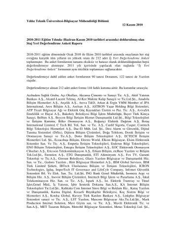 Yıldız Teknik Üniversitesi-Bilgisayar Mühendisliği Bölümü 12 Kasım ...