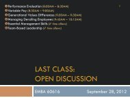 Last class: Open discussion - Timothy A. Judge