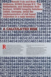 Implementation of risk based inspection in a tank - ROSEN ...