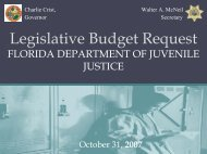 DJJ 2008 - 2009 Budget Requests - Florida Department of Juvenile ...