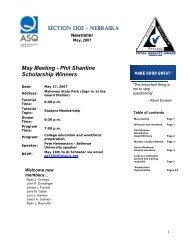 May Meeting - Phil Shanline Scholarship Winners - ASQ-1302