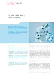 Fair Value Pricing Service - SIX Financial Information