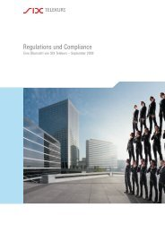 Regulations und Compliance - SIX Financial Information