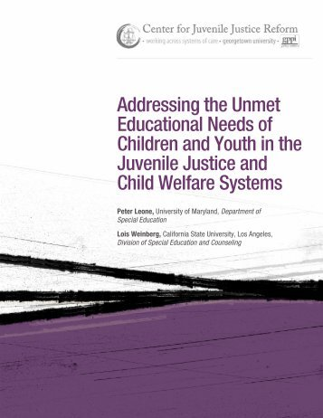 Addressing the Unmet Educational Needs of Children and Youth in ...