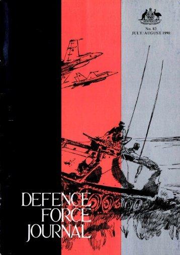ISSUE 83 : Jul/Aug - 1990 - Australian Defence Force Journal