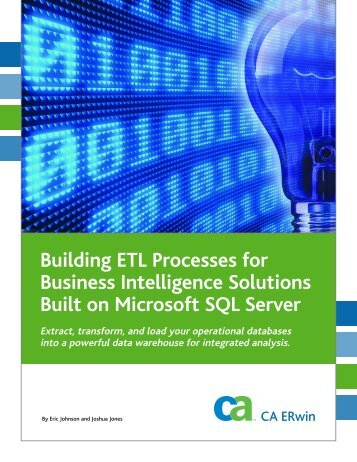 Building ETL Processes for Business Intelligence ... - CA ERwin