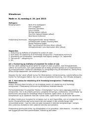 Klimaforum Møde nr. 8, mandag d. 24. juni 2013 - Fredensborg Kommune