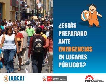 Emergencias en Lugares Públicos - Indeci
