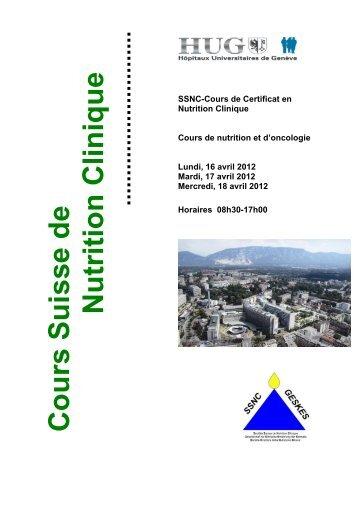 Cours Suisse de Nutrition Clinique - geskes