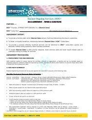 "Starnet Ongoing Services (SOS)â""¢ - Starnet Data Design, Inc"