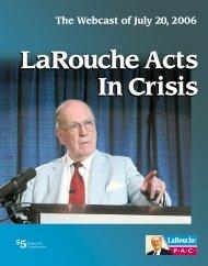 The Webcast of July 20, 2006 - LaRouchePAC