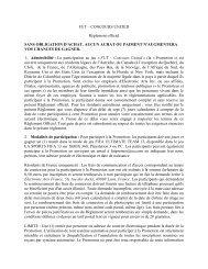 FUT – CONCOURS UNITED Règlement officiel SANS ... - Ea
