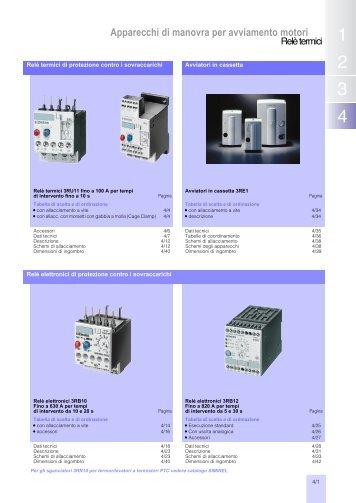 Relè termici di sovraccarico - Siemens