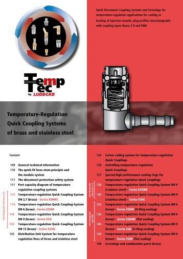 Temperature-Regulation Quick Couplings