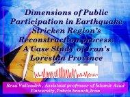 R. VALIZADEH: Dimensions of Public Participation ... - NEXUS-IDRiM