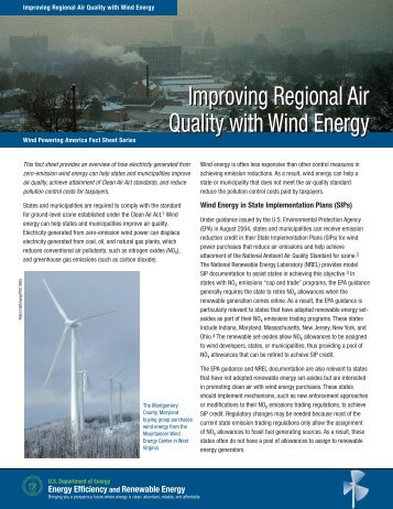 Improving Regional Air Quality with Wind Energy; Wind Powering ...