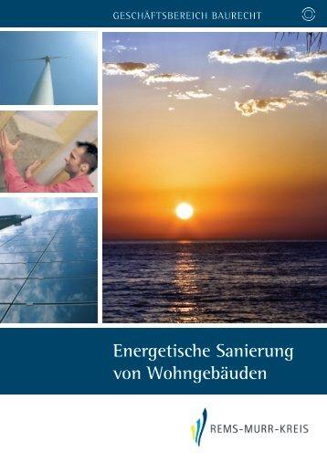 Energetische Sanierung von Wohngebäuden - Landratsamt Rems ...